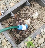 散水栓から水漏れ